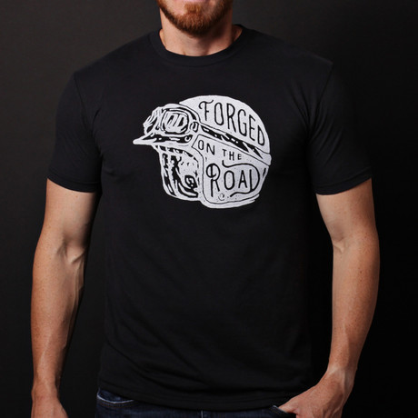 We Are All Smith // Forged on the Road Crewneck T-Shirt // Black