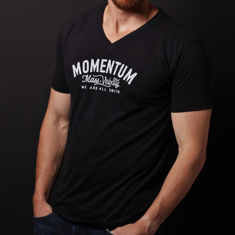 We Are All Smith // Momentum V-Neck T-Shirt // Black