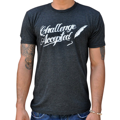 Dueling Co. // Challenge Accepted T-Shirt // Charcoal Black!