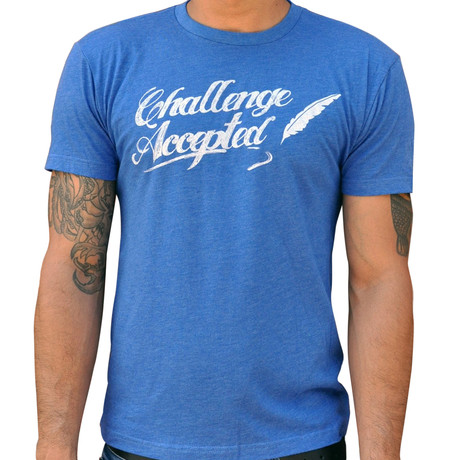 Dueling Co. // Challenge Accepted T-Shirt // Royal Blue