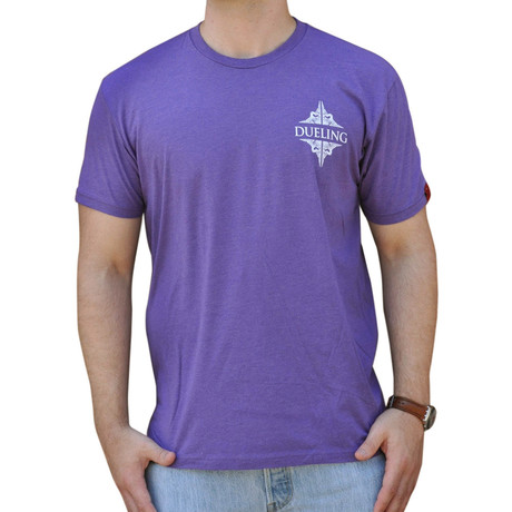 Dueling Co. // Last Remnant of a Civilized Society T-Shirt // Vintage Purple