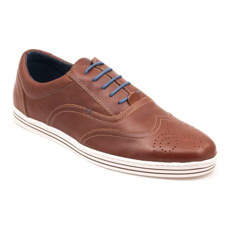 Madison Wing-Tip Sneakers // Cognac