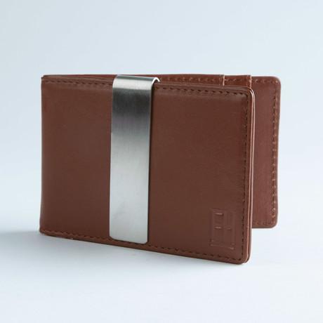 Signature Money Clip Slim Wallet // Smooth Cognac Brown