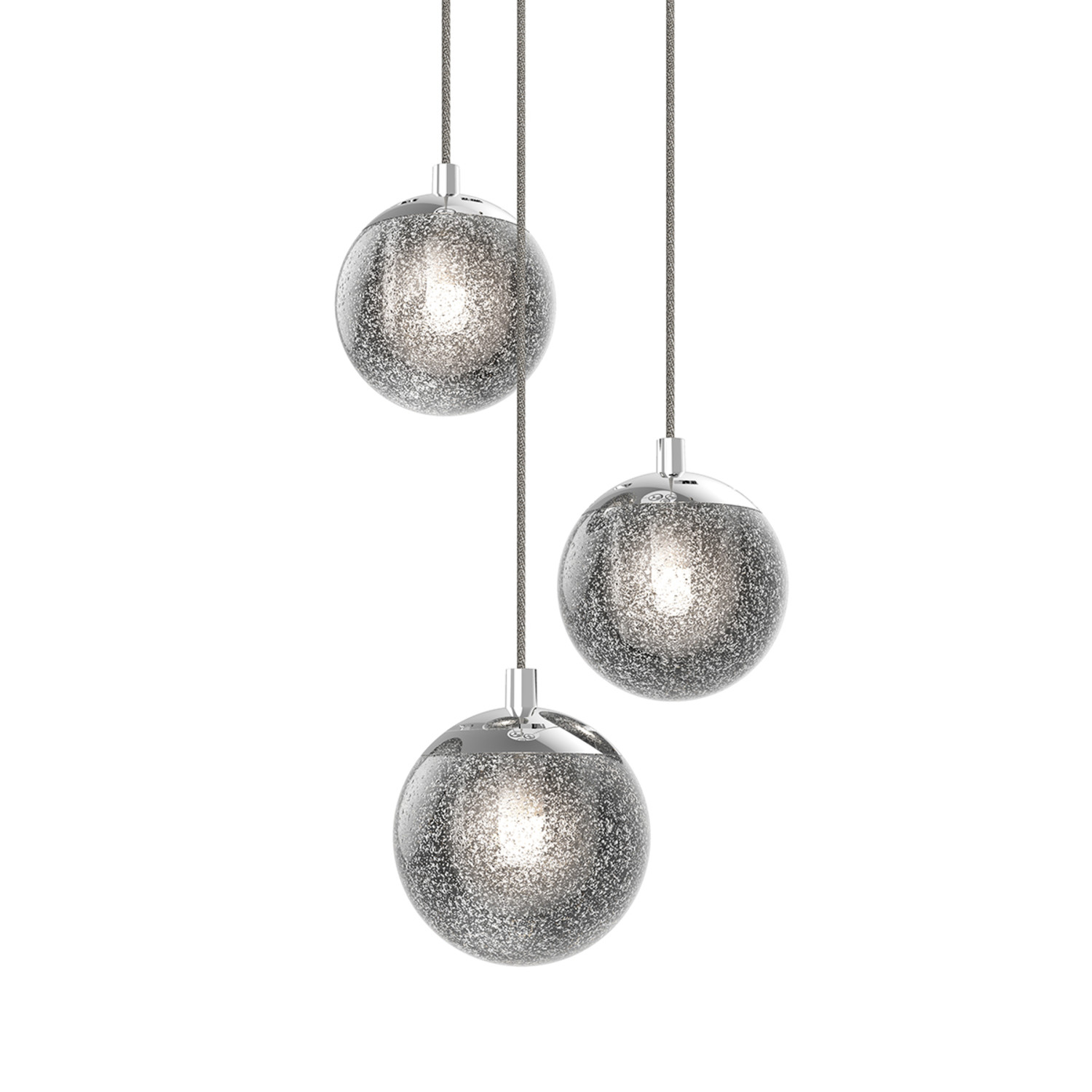 champagne bubbles round led pendant 3 light sonneman touch of modern. Black Bedroom Furniture Sets. Home Design Ideas