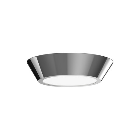 "Oculus LED Surface Mount // 10"" (Polished Nickel + White)"