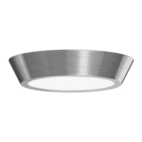 "Oculus LED Surface Mount // 13"" (Polished Nickel + White)"