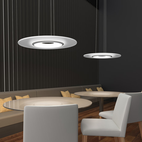 "Float LED Pendant // Satin Nickel (18"")"