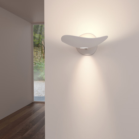 Infinity LED Wall Torchiere + Downlight (Dove Grey)