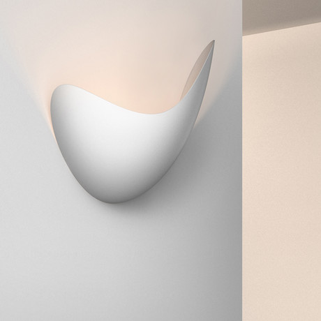 Waveforms LED Sconce (Right // Dove Grey)