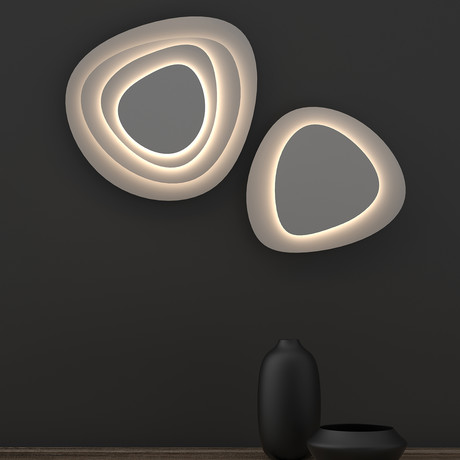 Abstract Panels LED Sconce (Small // 2 Plate)