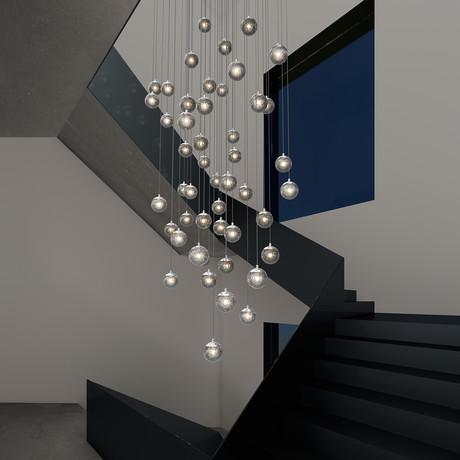 Champagne Bubbles Round LED Pendant (9-Light)