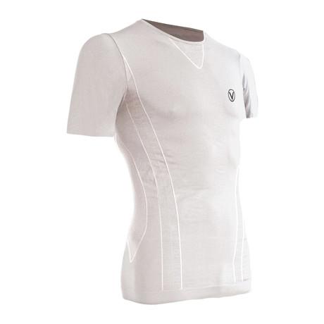 Vivasport // Short-Sleeve Crewneck Athletic Shirt // White