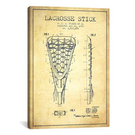 Lacrosse Stick Patent Blueprint // Vintage
