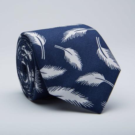 Feather Skinny Tie // Blue