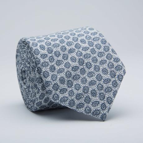 Paisley Print Skinny Tie // White