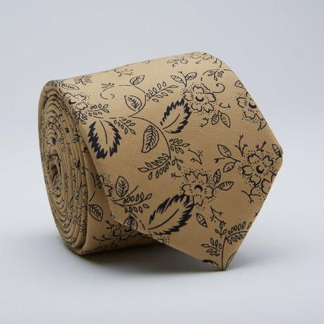 Floral Skinny Tie // Khaki