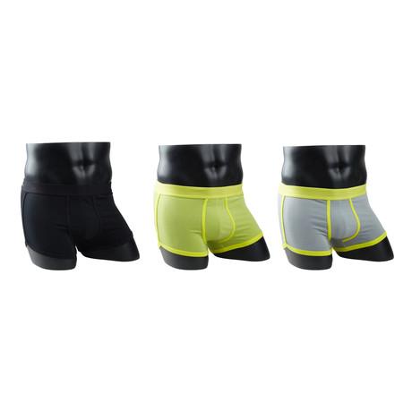 Boxer Briefs // Classic Black + Lemon Green + Lemon Grey // Pack of 3