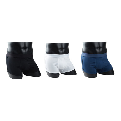 Boxer Briefs // Classic Black + Classic White + Navy Blue // Pack of 3