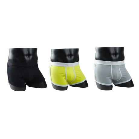 Boxer Briefs // Black + Yellow Orange + Grey Orange // Pack of 3