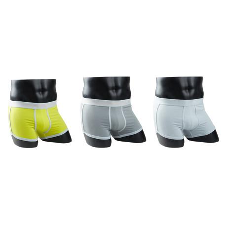 Boxer Briefs // Yellow Orange + Silver Grey + Grey Orange // Pack of 3