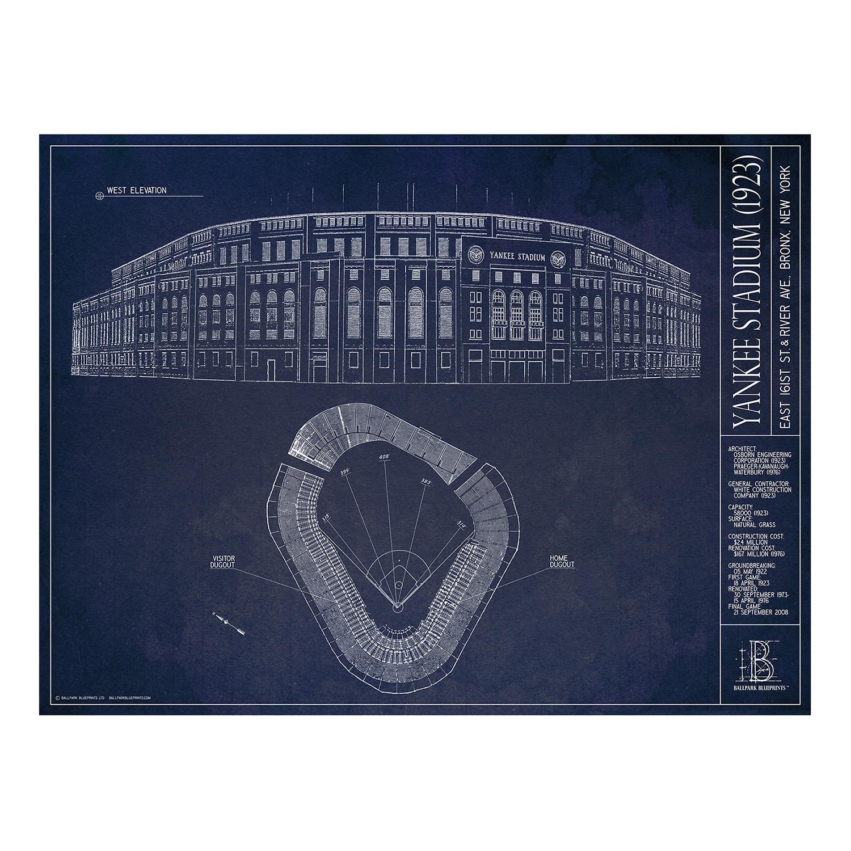 Old yankee stadium new york yankees ballpark blueprints ltd old yankee stadium new york yankees malvernweather Image collections