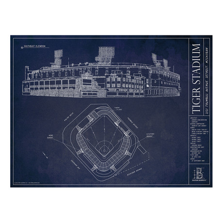 Ballpark blueprints the art of ballpark architecture touch of old tiger stadium detroit tigers malvernweather Choice Image