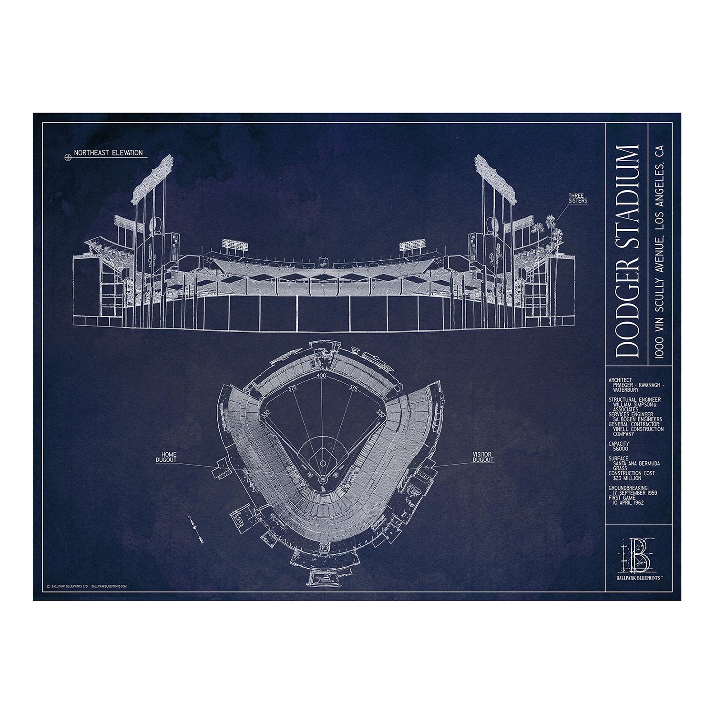 Dodger stadium los angeles dodgers ballpark blueprints touch dodger stadium los angeles dodgers malvernweather Gallery