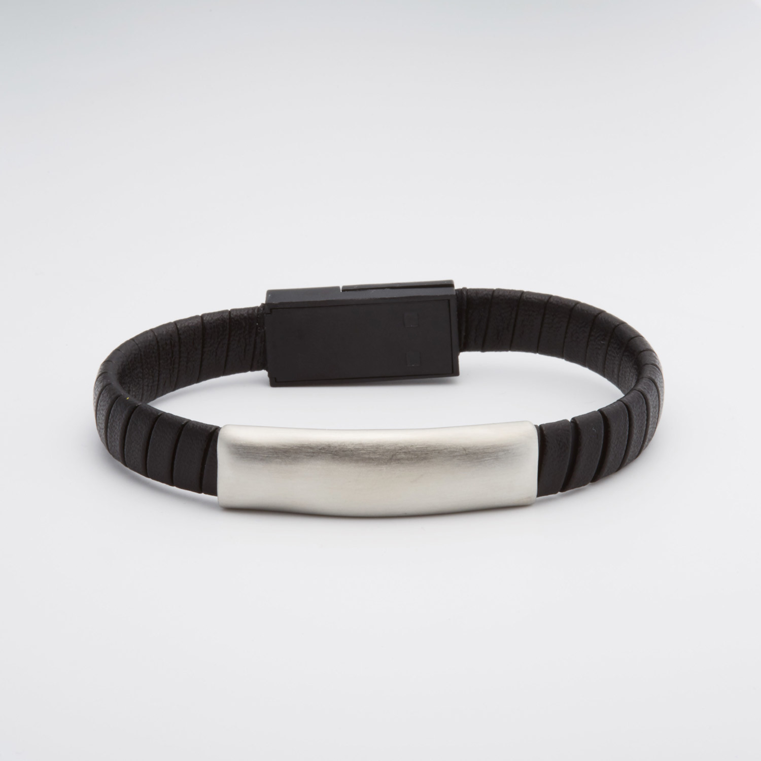 Braided Leather Stainless Steel Usb