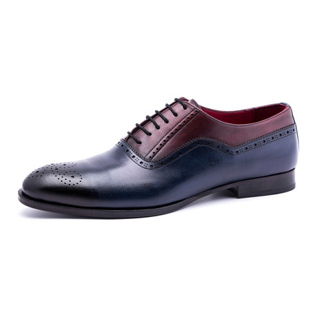 Medallion Brogue Oxford // Navy + Black