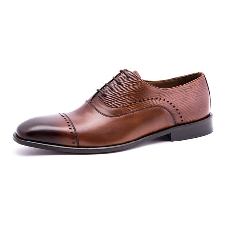 Damat Medallion Semi-Brogue Oxford // Brown (Euro: 39)