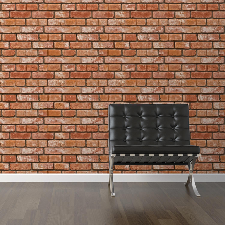Realistic Brick Removable Wallpaper 2W X