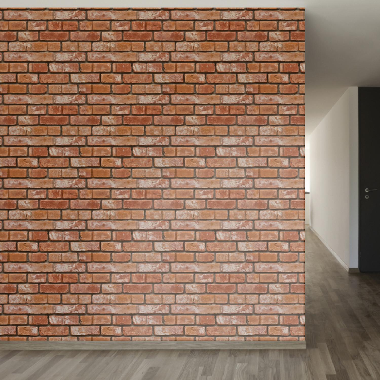 Realistic brick removable wallpaper 2 39 w x 4 39 h walls for Brick wallpaper sale