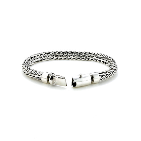 Sterling Silver Interlocking Braid Bracelet // Silver