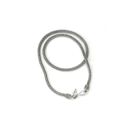 Sterling Silver Braided Chain // Silver