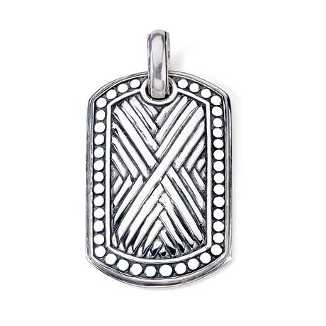 "Sterling Silver ""X"" Pendant // Silver"
