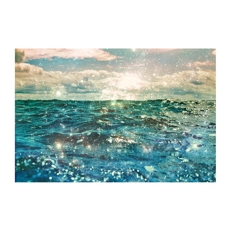 "Glitter On The Water (24""W x 16""H x 1.5""D)"
