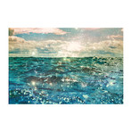 "Glitter On The Water (24""W x 16""H x 1.5""D)"