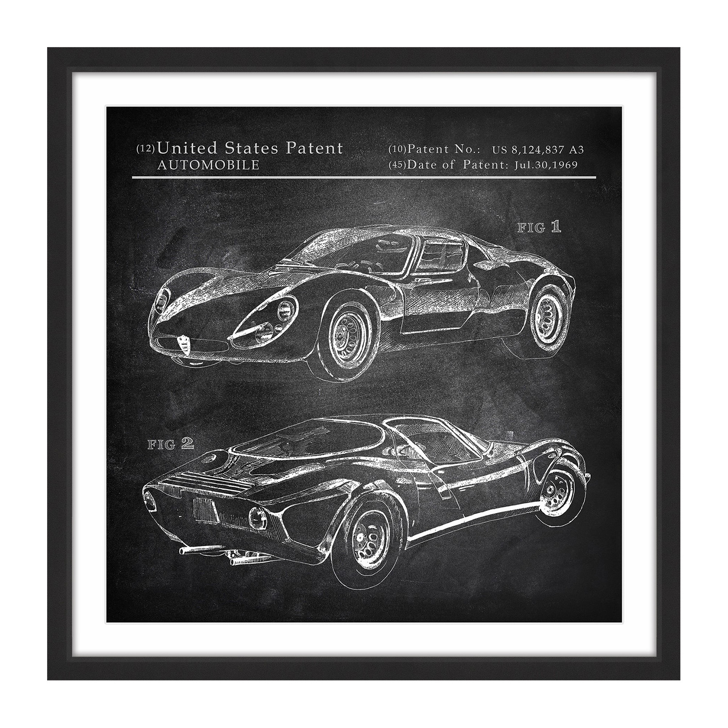 "Alfa Romeo Tipo 33 Stradale // Framed Painting Print (12""W"