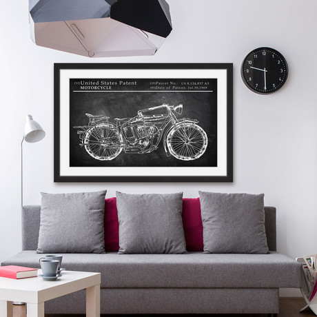 Triumph Speed Twin // Framed Painting Print