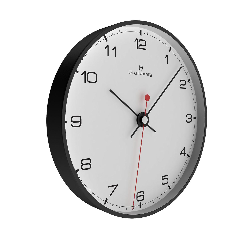 12 black steel wall clock w300b5wtb oliver hemming touch 12 black steel wall clock w300b5wtb amipublicfo Image collections