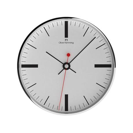 """12"""" Chrome Wall Clock // W300SSTATTB"""