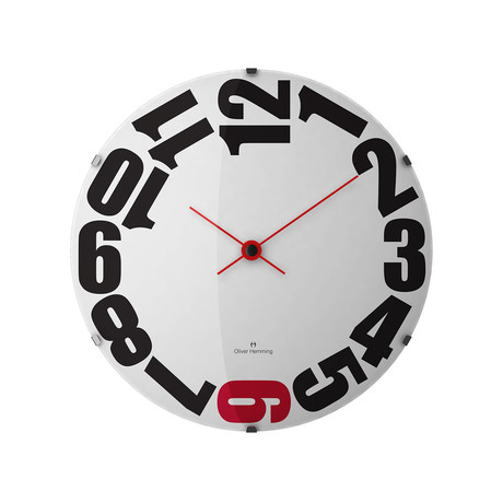 15 Domed Glass Wall Clock // W370DG20WR