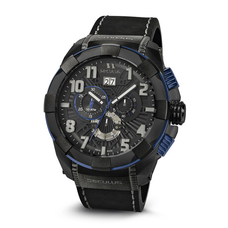 Seculus Ridge Chronograph Quartz // 4518 LB IPB BL