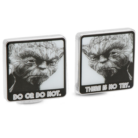 There Is No Try Cufflink // Grey