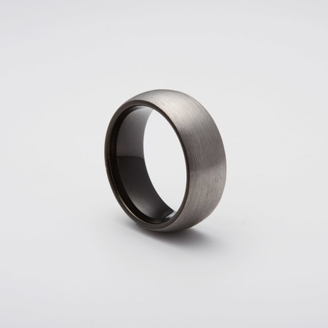 Brushed Tungsten Carbide Ring // Black