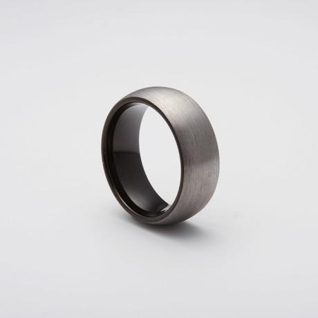 Brushed Tungsten Carbide Ring // Black (Size 8)