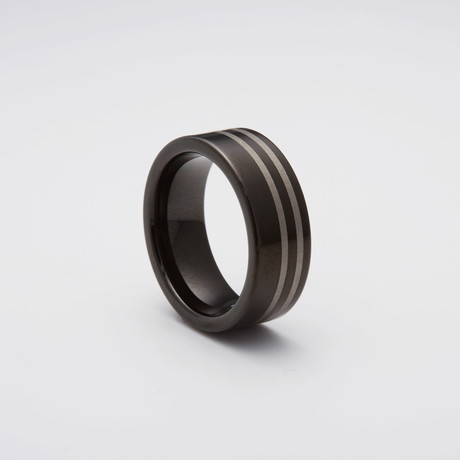 Finish Tungsten Carbide Ring // Black (Size 8)