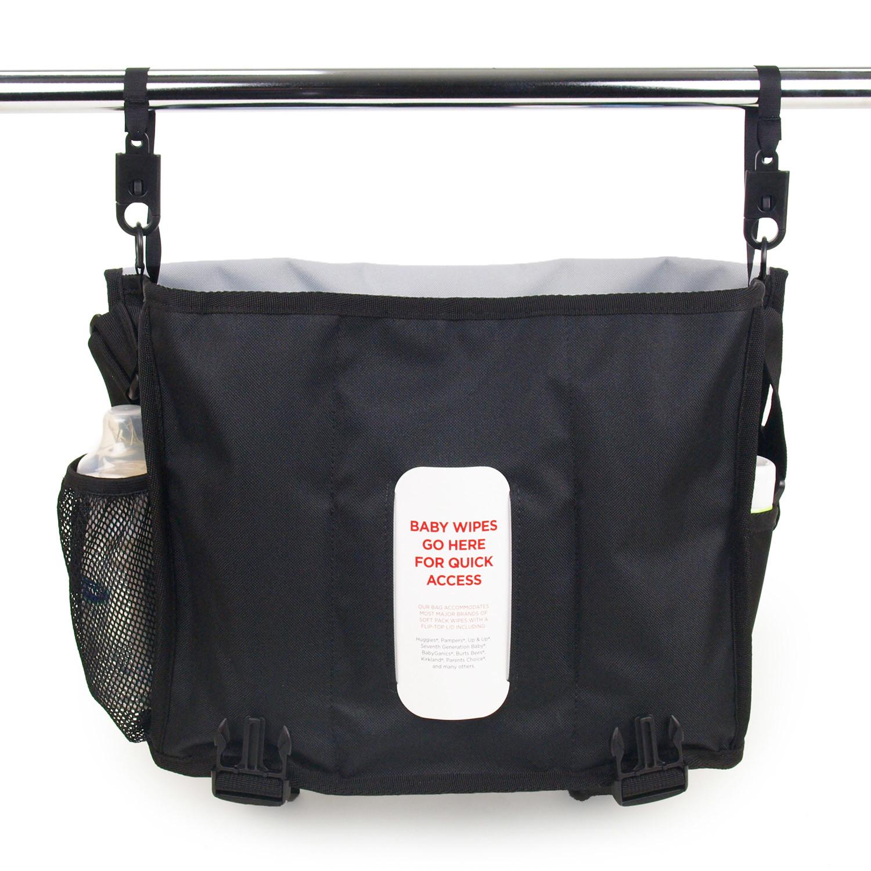 courier diaper bag retro stripe blue dadgear touch of modern. Black Bedroom Furniture Sets. Home Design Ideas