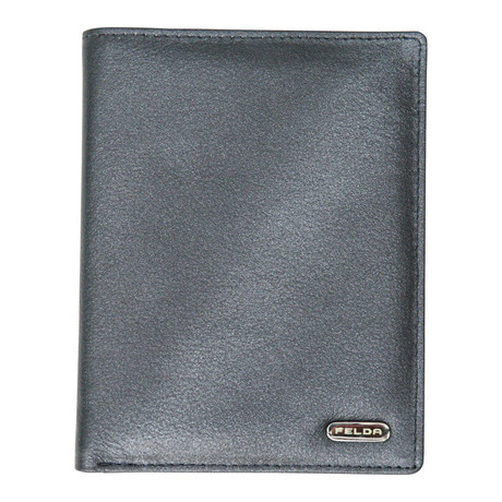 Bari Passport Cover // Metallic Navy Multi