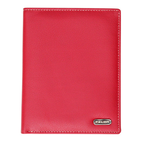 Bari Passport Cover // Red Multi